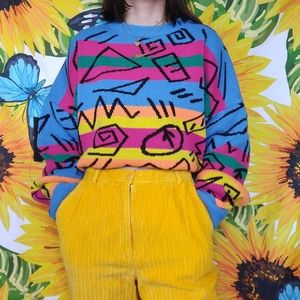VINTAGE COLOURFUL SWEATER